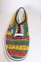 New Vans Doren Men Shoes Rasta Tribal Surf Yellow Red Green Lace Sz 11.5 Sneaker image 2