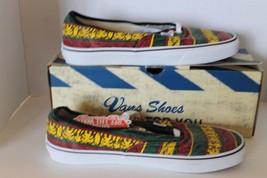 New Vans Doren Men Shoes Rasta Tribal Surf Yellow Red Green Lace Sz 11.5 Sneaker image 4