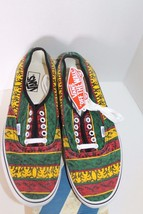 New Vans Doren Men Shoes Rasta Tribal Surf Yellow Red Green Lace Sz 11.5 Sneaker image 6