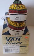 New Vans Doren Men Shoes Rasta Tribal Surf Yellow Red Green Lace Sz 11.5 Sneaker image 5