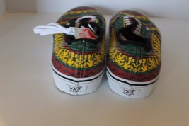 New Vans Doren Men Shoes Rasta Tribal Surf Yellow Red Green Lace Sz 11.5 Sneaker image 3