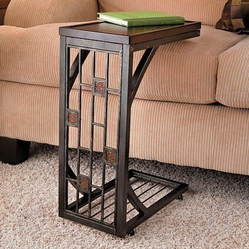 accent end side table tray coffee sofa console stand tv lap snack bed tables. Black Bedroom Furniture Sets. Home Design Ideas