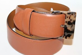 NWT Ralph Lauren Women Belt Small Tan Brown Animal Print Acrylic Buckle - $56.09