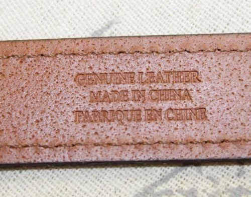 NWT Classic RL Ralph Lauren Women Brown Leather Belt Thin Gold Buckle Small