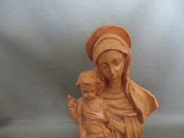 Faux Wood Madonna and Child 6 Inch Tall Figurine - $10.99