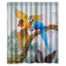 Parott Birds #01 Shower Curtain Waterproof Made From Polyester - $31.26+