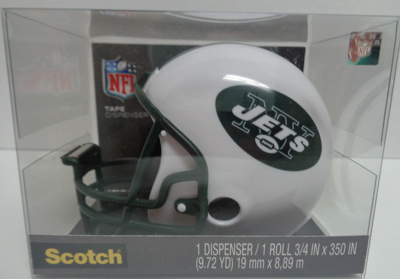 New York Jets Scotch Tape Dispenser Helmet Green White NFL NIB