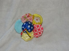 Manhattan Toy Little Bloom Flower Wrist Rattle Crinkle Crackle Baby Satin - $16.82
