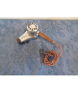 Vintage Knapp Monarch Hair Dryer Wood Handle Cloth Cord Model 81 Prop Se... - $19.85