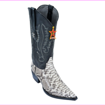 Los Altos Natural Python 3X Toe W / Cowboy Heel Boots 95V5749 Size 7EE - $281.84