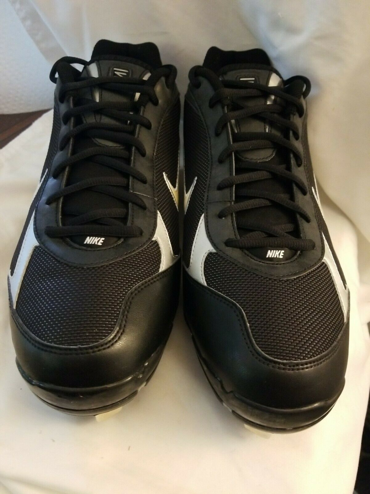 Primary image for NIKE Shox Fuse Metal - Blk/Wht Baseball Softball Cleats Size 12.5 New