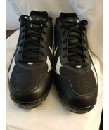 NIKE Shox Fuse Metal - Blk/Wht Baseball Softball Cleats Size 12.5 New - $15.79
