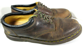 Dr Martens 8053 Brown Nubuck Air Wave Oxford Casual Shoes Size Men's 14 - $9.85
