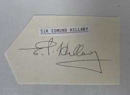 Sir Edmund Hillary Signed Autographed Vintage Signature Card - COA/HOLOs - $39.99