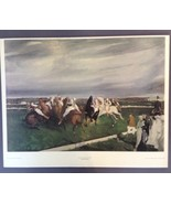 """George Bellows Polo At Lakewood Columbus Gallery Lithograph Print 28"""" x 22"""" - $34.55"""