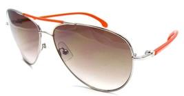 Calvin Klein Aviator Sunglasses Silver Orange Red 57x17x140 Brown Gradient - $30.91