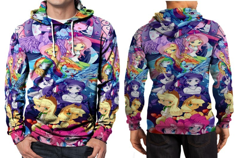 Primary image for My Little Pony Equestria Girls Hoodie Fullprint Men