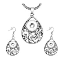 New DJ0099 Beauty Vintage Drop Hollow pattern snap necklace&earring set ... - $16.08