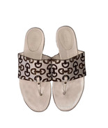 GUCCI 8B horse bit logo sandals thongs shoes slides ladies cream leather... - $193.99