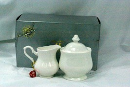 Hankook 1987 Lobed Body Creamer And Sugar Set New From The Box - $20.78
