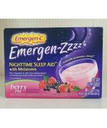 Emergen-ZZZ Nighttime Sleep Aid Berry PM with Melatonin 24 Count New - $44.55