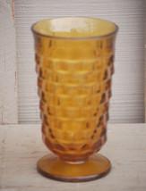 Old Vintage Amber Tumbler Whitehall Harvest Gold Pattern Cube Design by ... - $14.84