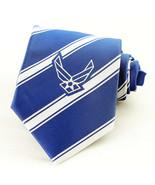 Air Force Seal Men's Necktie US Military Jet Pilot Airman Striped Blue N... - $29.65