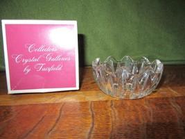 Vintage 24% Lead Crystal Trinket-Mint Dish-Crystal Clear Inc Yugoslavia-IOB - $4.00