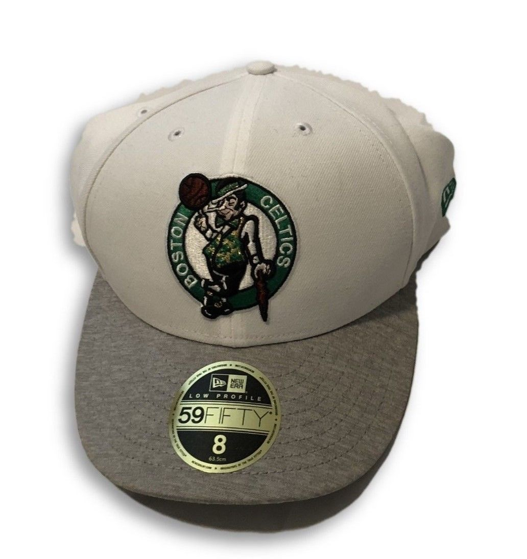 NWT New Boston Celtics New Era 59Fifty Low Profile Tech Sweep Size 8 Fitted Hat