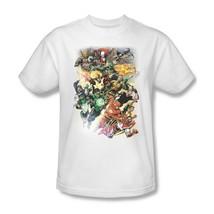 Justice League T-shirt Free Shipping cotton white tee superhero DC comics JLA329 image 2