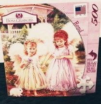 Dona Gelsinger Sister Angels Round Jigsaw Puzzle 500 Pieces  - $14.50