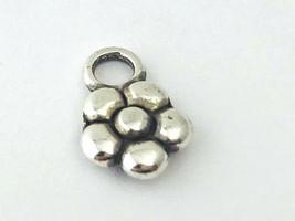 Brighton Mini Flower Charm, Silver Finish, J92200 New  - $6.64