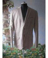Calvin Klein Mens Beige Blazer / Suit Jacket Cotton & Linen Size XL New - $69.29