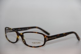 NEW TOM FORD TF 5087 015 HAVANA EYEGLASSES AUTHENTIC RX TF5087 52-15 W/CASE - $103.00