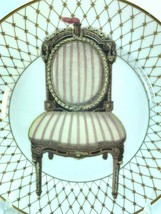 Fitz and Floyd Chaise I Plate Fine Porcelain Hand Painted Chair 32181 - $29.69
