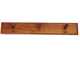 Woodland Collection Solid Oak Triple Robe Hook