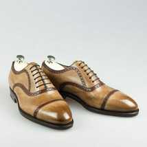Men's Handmade Dress Shoes, Genuine Leather Lace up Formal Shoes  - $159.99 - $189.99