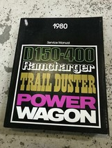 1980 Dodge Ramcharger Trailduster Truck Service Repair Shop Manual FACTO... - $29.65