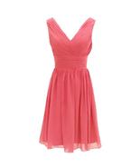 Cheap  Chiffon Bridesmaid Dress Short Girls Homecoming Dress A Line Wedd... - $48.00