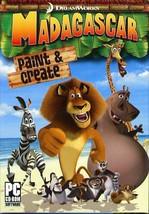 Madagascar Paint & Create (PC-CD, 2005) for Windows - NEW CD in SLEEVE - $7.98