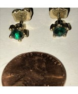 Avon Dark Green Crystal-Like Earrings - $7.00