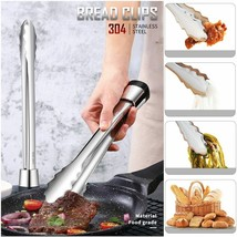 Fypo® Standable Food Clip Vertical 304 Stainless Steel Beef Tongs Bread ... - €7,85 EUR