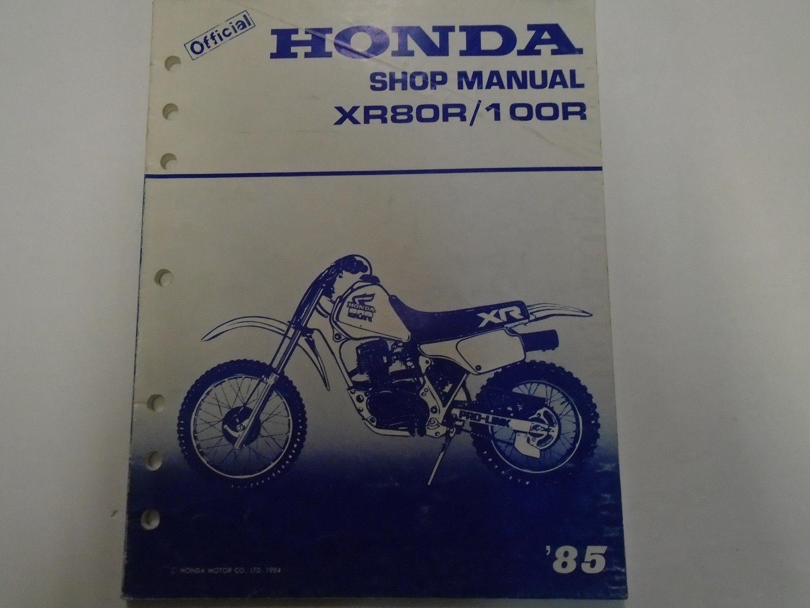 1985 Honda XR80R XR100R Service Repair Shop Factory Manual OEM Used Book ***