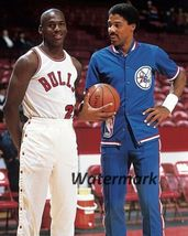 Michael Jordan Bulls Julius Erving 76ers Vintage 8X10 Color Basketball P... - $6.99