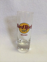 "Hard Rock Cafe Miami 4"" Tall Tequila Shot Glass Clear Classic Circle Logo - $9.99"