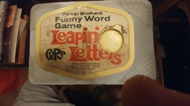 """VINTAGE """"LEAPIN' LETTERS"""" FUNNY WORD GAME BY PARKER BROTHERS, 1969 - $14.03"""