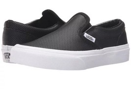 Vans CLASSIC SLIP ON Perf Leather /Prism Black Shoes 1 - $46.74