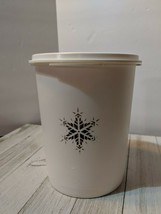 Vintage Tupperware White Silver Snowflake Servalier Canister Lid Seal 81... - $12.07