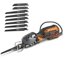 VonHaus 5 Amp Compact Reciprocating Saw Kit With 8 Blades - Extra Long 1... - $65.69