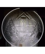 Libbey Glass Platter Sleigh Ride Winter Scene Large Serving Plate Christ... - $24.98
